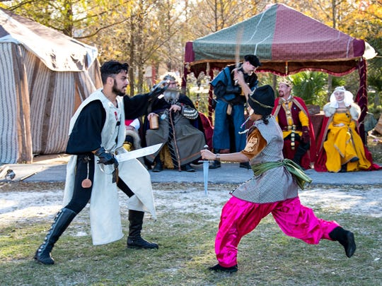 Every year, the Riverdale Kiwanis Medieval Faire uses a different theme for its human chess matches. Those themes have included Romans versus barbarians and this year's Vikings versus Northumbrians.