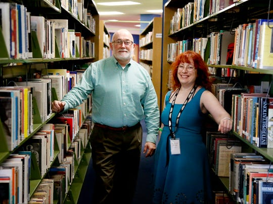 Chemung County Library District Director Ronald Shaw and teen services coordinator Doris Jean Metzger stand in the area of where the new teen space may be constructed in Steele Memorial Library in the fall. The large room will be the central location of all teen-related activities.