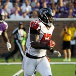 Falcons wide receiver and kick returner Devin Hester will be someone the Giants have to contain Sunday.