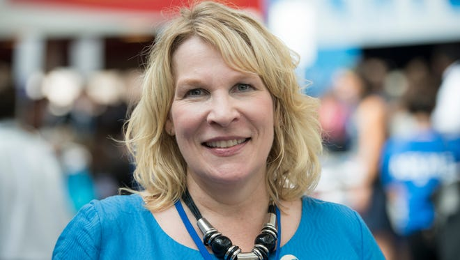 Kim Weaver is pictured in July 2016 while attending the Democratic National Convention in Philadelphia.