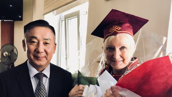 Candace Kaye, a retired associate professor at New Mexico State University's College of Education and an affiliated graduate faculty member in the Department of Curriculum and Instruction at the College of Education, is the first person from the U.S. to receive the honorary doctorate from Mongolian National University of Education, and is the first foreigner to receive the Science Leader Award by the Ministry of Education, Culture and Science. The award is the highest level of honor given by the ministry.