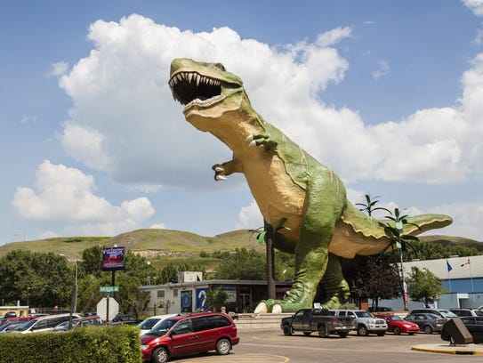 Drumheller is home to the world's largest dinosaur,