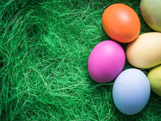 Pastel painted Easter eggs