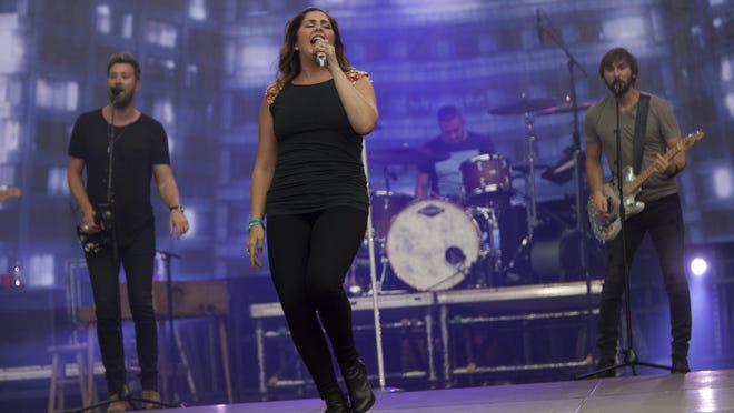The band Lady Antebellum, which has shortened its name to Lady A, performing during the 2016 Buckeye Country Superfest at Ohio Stadium