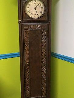 This grandfather clock is one of the items available at the auction.