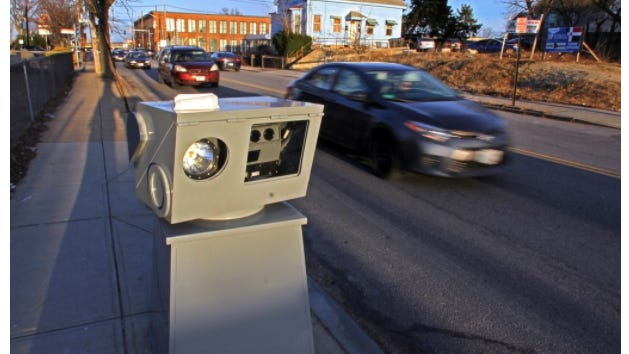 A traffic speed camera in Providence in 2019.