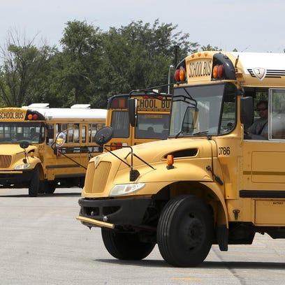 JCPS school buses