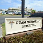 The Guam Memorial Hospital sign photographed in Tamuning on March 26, 2015.