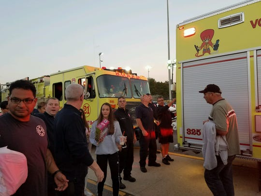The South Old Bridge Fire Company made a surprise visit