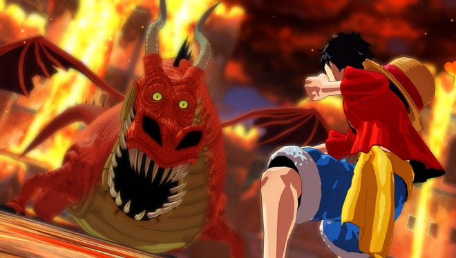 "Luffy and the Straw Hat crew embark on another wacky adventure in action game ""One Piece: Unlimited World Red."""
