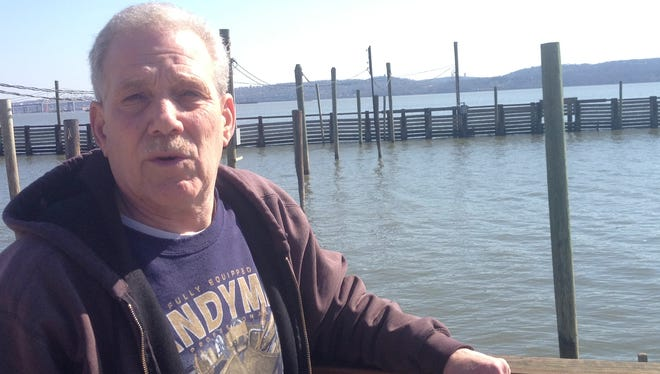 Mike Setteducati of the Tappan Zee Marina in Piermont talks about access to the main channel of the Hudson River during construction of the new Tappan Zee Bridge.
