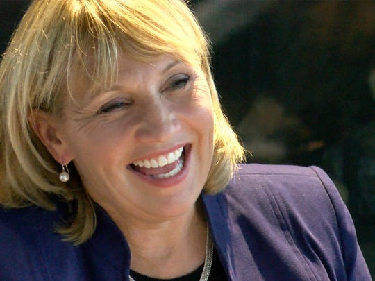 NJ Lt. Gov. Kim Guadagno is shown during a roundtable discussion at the Rum Runners in Sea Bright Sunday, October 29, 2017.  The event marked the fifth anniversary of Superstorm Sandy's landfall.