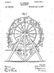 A photocopy of William Somers' patent for his wooden
