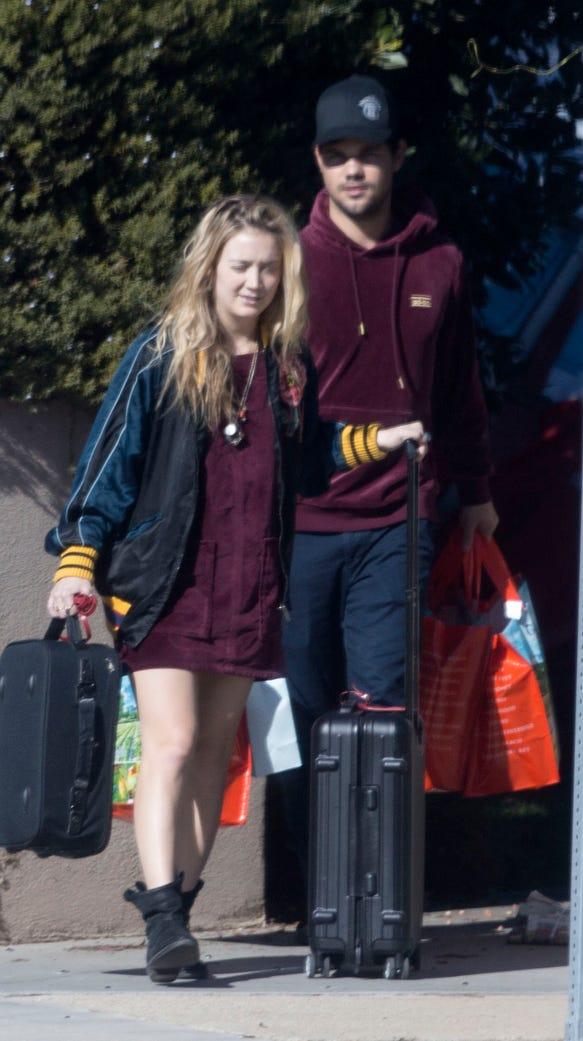 Billie Lourd leaves her home with rumored boyfriend