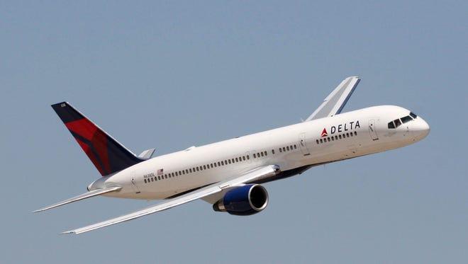 A Delta Boeing 757.