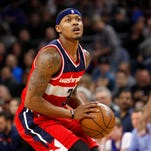Washington Wizards guard Bradley Beal (3) looks to