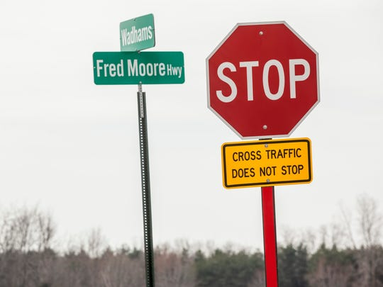Officials in St. Clair and China townships have asked the St. Clair County Road Commission to study the intersection of Fred Moore Highway and Wadhams Road following a fatal crash in January.