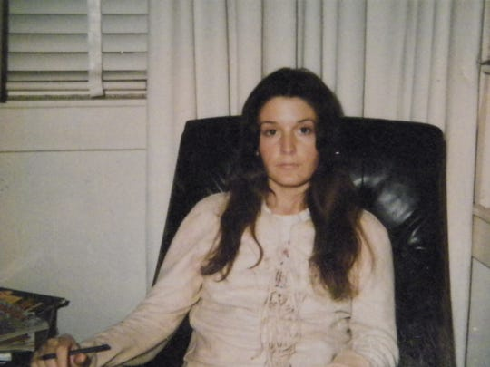 "February 1973 photograph of Sharon Hensley, the last known image of her. It was taken at the home of Felix Vail's family in Montpelier, Mississipp, and captioned ""making travel plans."""