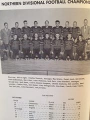 The 1958 Nortern C Divisional champion Simms Tigers, who were 9-0 and defeated Lewistown St. Leo's for the crown. Class C didn't have state championships in those days.
