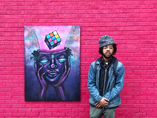 """Artist Terrance Vann's """"Inner Visions"""" art show will be at the baby grand in Wilmington Friday."""