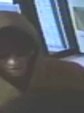 This photo from surveillance footage shows the suspect in Saturday's robbery of the Days Inn in Richmond.
