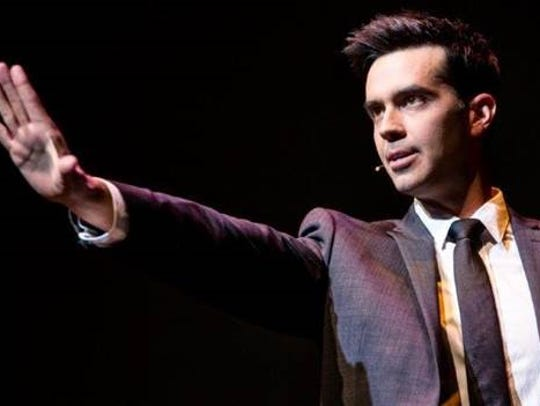 Michael Carbonaro will perform his magic Friday at