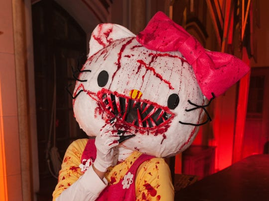 Judith Hoge of New Boston, MI, came dressed as Hell Kitty to Theatre Bizarre at the Masonic Temple on Saturday, October 17, 2015 in Detroit.