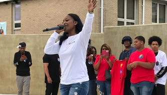 Poca performs at the Unity Concert Aug. 12 at Springwood Avenue Park in Asbury Park on the city's rebounding west side. The neighborhood is the future home of the Asbury J.A.M.S. project.