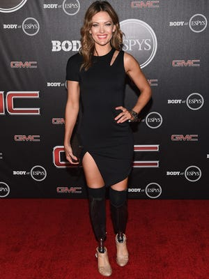Amy Purdy arrives at the ESPN's BODY at ESPY's Pre-Party at Lure on July 15, 2014 in Hollywood, California.