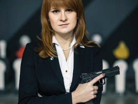 An undated handout picture of Maria Butina made available