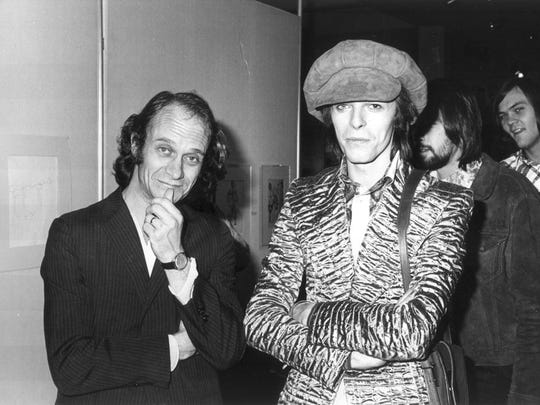 In 1973, David Bowie visited the Memphis College of Art at the invitation of artist/professor Dolph Smith.