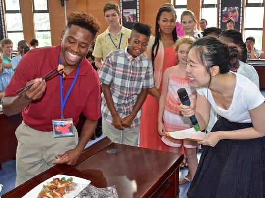 Elijah R. Rachell, 16 samples authentic Chinese cuisine.