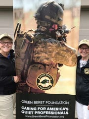 Fran Wesseling, founder of the Cincinnati Green Beret Classic Weekend, and Char Cooper, race chairperson for the 2018 Steps 'n Salutes Green Beret 5K.