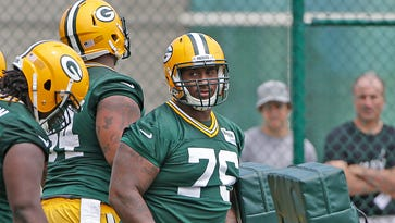 Green Bay Packers defensive lineman Mike Daniels (76) during minicamp at Ray Nitschke Field.
