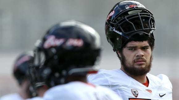 Oregon State offensive lineman Isaac Seumalo started 37 games in his college career.
