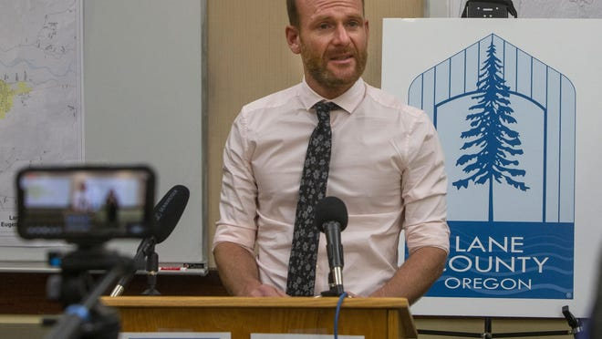 Jason Davis, Lane County public heath spokesman, provides a morning update on COVID-19 in Lane County in Eugene earlier this year. [Chris Pietsch/The Register-Guard] - registerguard.com
