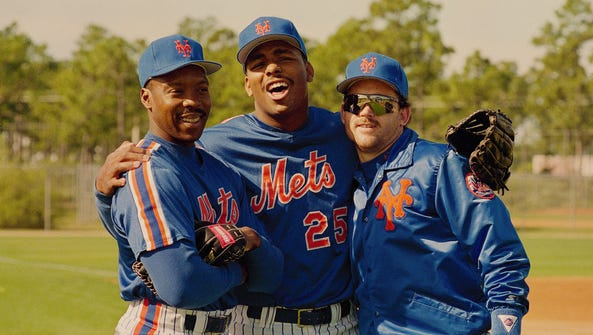Back in the day: Mets' Vince Coleman, left, Bobby Bonilla,
