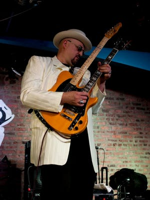 """Dr. Daniel """"Chicago Slim"""" Ivankovich jamming with the Chicago Blues All-Stars"""