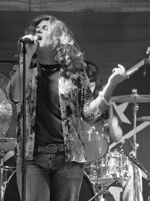 """Robert Plant"" of Led Zeppelin tribute band Led-Hed"