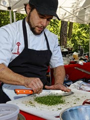 Townhouse Chef Ben Zemach at the Birmingham Farmers