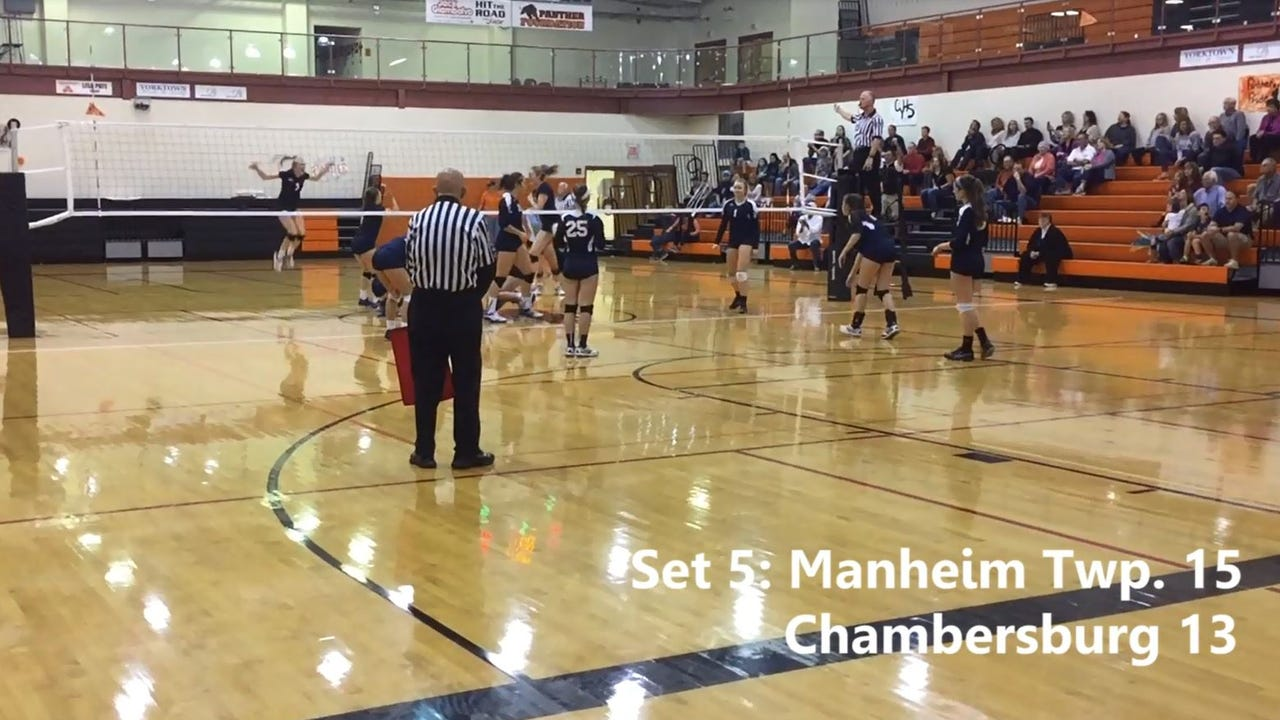 Watch: Chambersburg falls to Manheim Twp. in girls volleyball