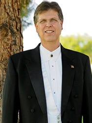 Gary Caldwell, now professor emeritus of Dixie State University Music Department and conductor emeritus of the Southwest Symphony Orchestra.