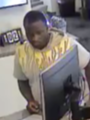 Smyrna police are asking for the man's identity as they investigate the use of a stolen credit card at a nearby branch of Dover Federal Credit Union.
