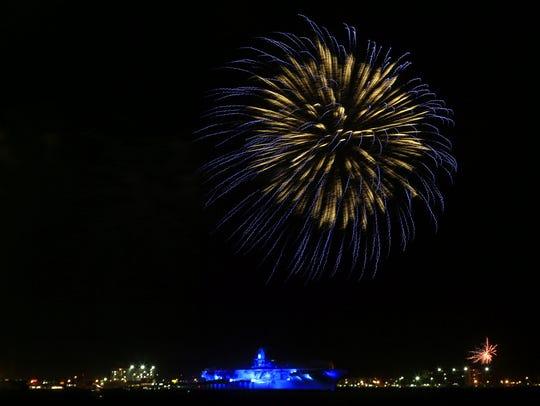 The Mayor's Big Bang Celebration fireworks on Tuesday,