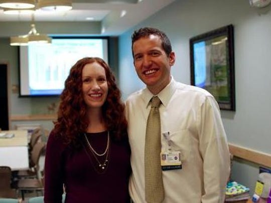 Drs. Erin and Tom Campbell. Campbell is helping people