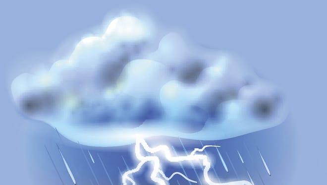 Thunderstorm lightning rain storm thunder webart.