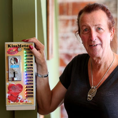 Stu Rasmussen stands with the KissMeter, in Silver