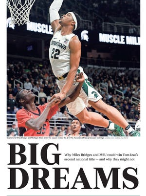 The cover for the Michigan State basketball 2017-18 special section.