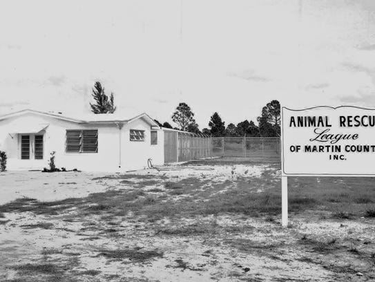 The Animal Rescue League facility in 1963, across from