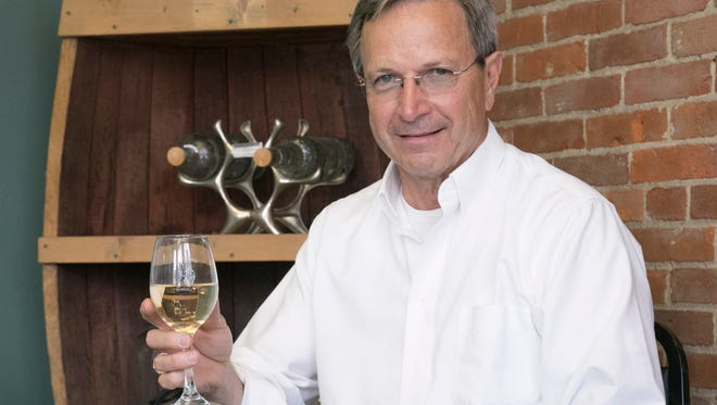 Ron Fox is co-owner of Fox Winery in downtown Galion. Fox is looking forward to selling his own wine later this summer from the downtown location.